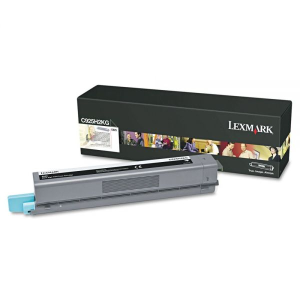 Lexmark C925H2KG Black High Yield Toner Cartridge