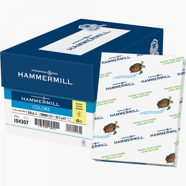 Hammermill Recycled Colored Paper - Canary