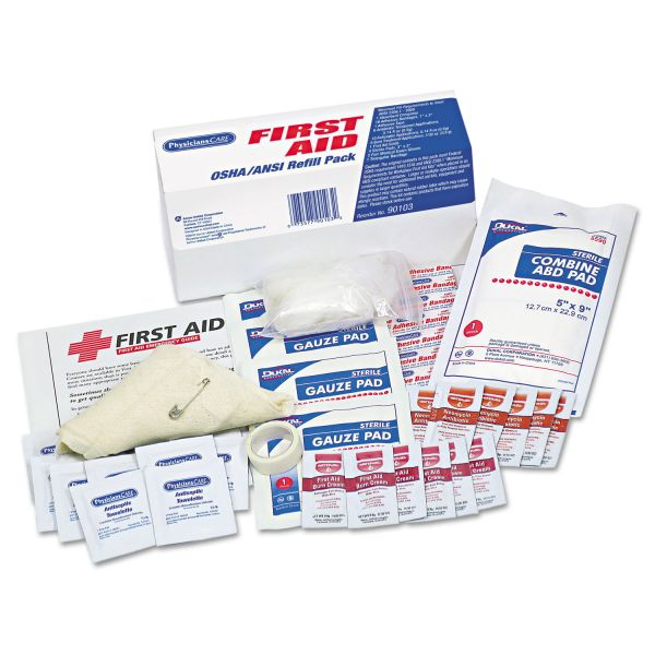 Acme United ANSI/OSHA First Aid Refill Pack, 41 Pieces