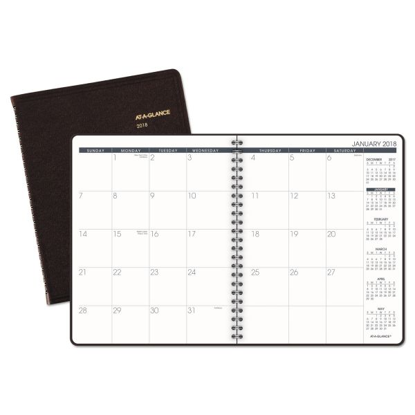 AT-A-GLANCE Monthly Planner, 6 7/8 x 8 3/4, Winestone, 2019