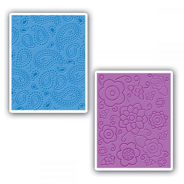 Sizzix Textured Impressions A2 Embossing Folders 2/Pkg
