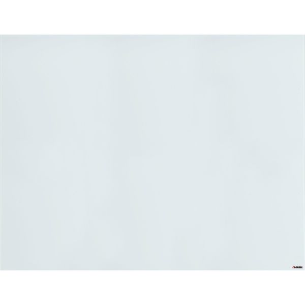 "Lorell 46"" x 36"" Magnetic White Glass Dry Erase Whiteboard"