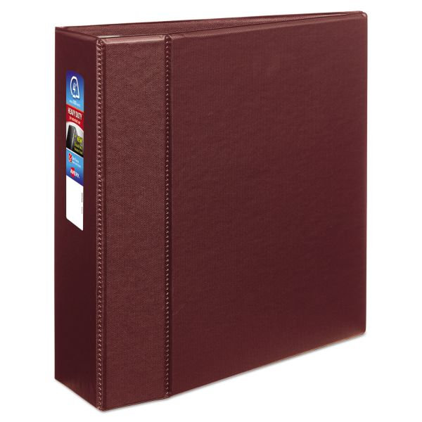 "Avery Heavy-Duty 3-Ring Binder with One Touch EZD Rings, 4"" Capacity, Maroon"