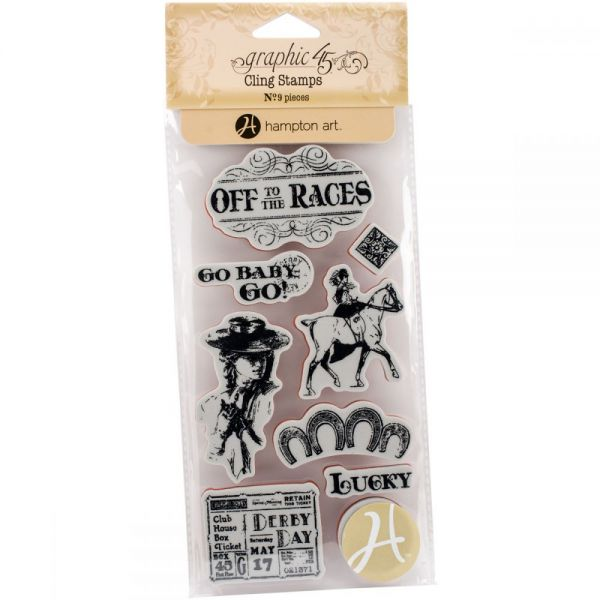 Graphic 45 Off To The Races Cling Stamps