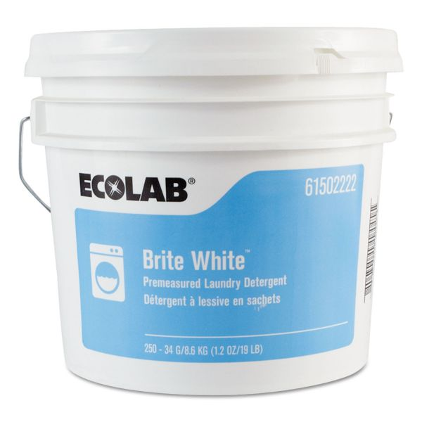 Ecolab Brite White Premeasured Laundry Detergent Packets