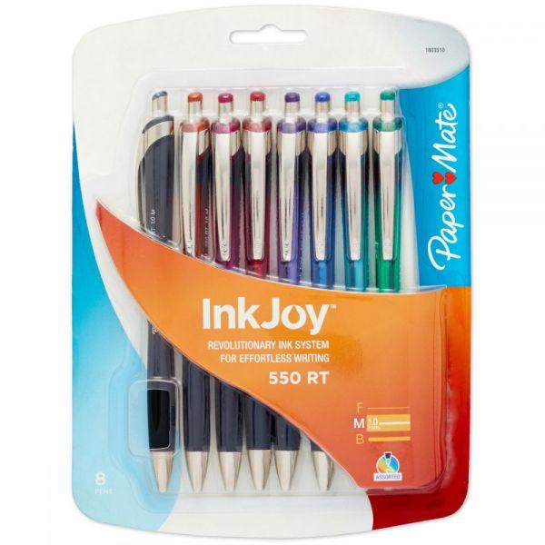 InkJoy 500RT Retractable Ballpoint Pens 1.0mm 8/Pkg