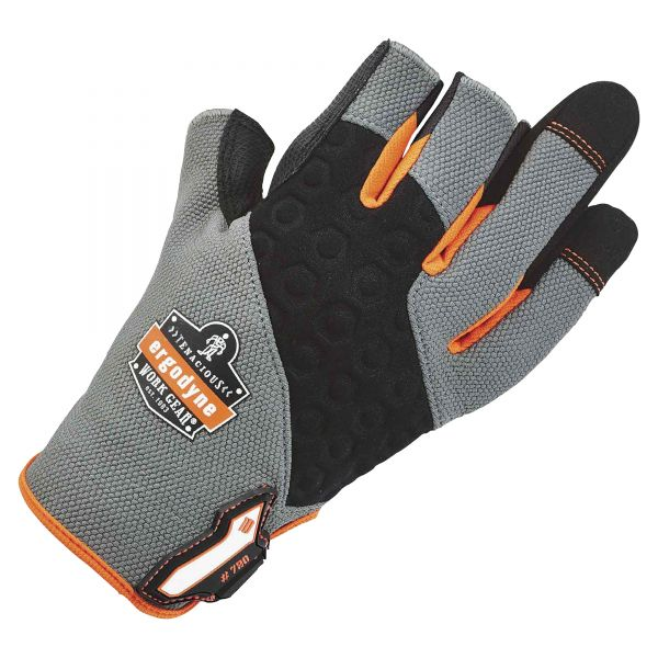 ergodyne ProFlex 720 Heavy-Duty Framing Gloves, Gray, Small, 1 Pair