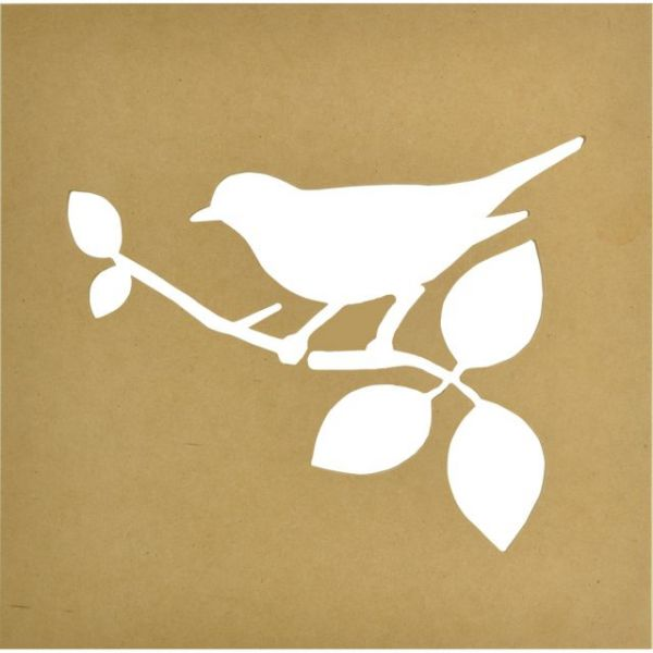 Beyond The Page MDF Bird Silhouette Wall Art Frame