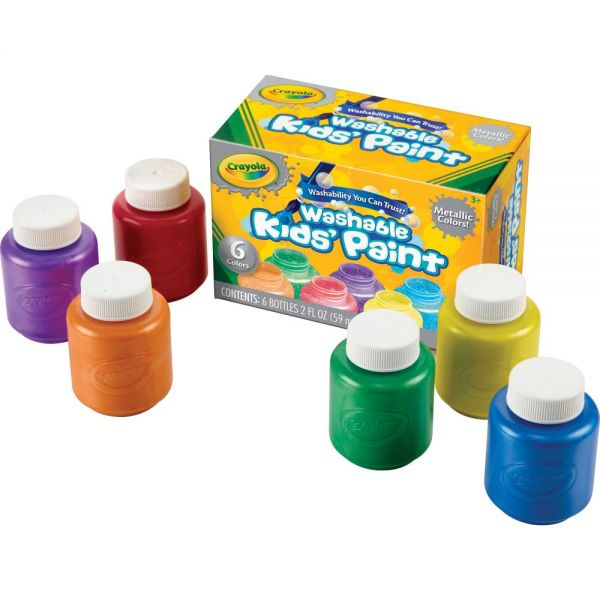 Crayola Metallic Colors Washable Kids Paint