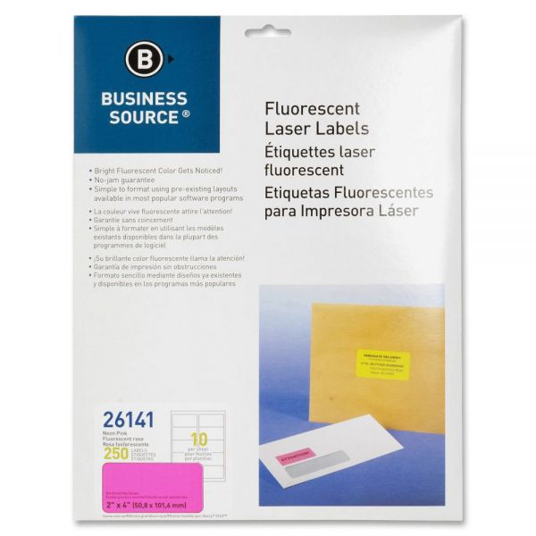 Business Source 26141 Color Coded Fluorescent Labels