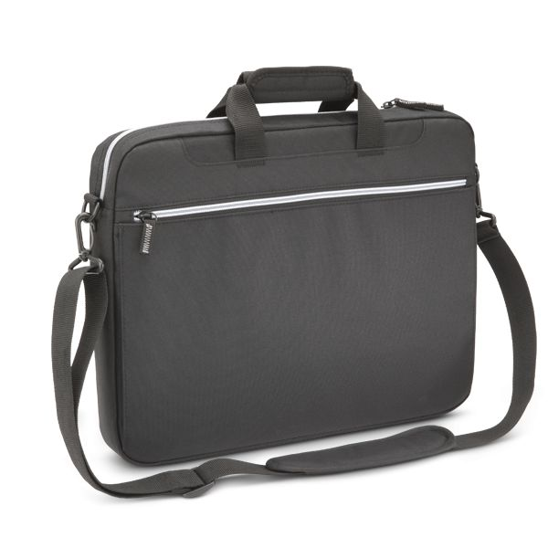 "Toshiba Carrying Case for 14"" Notebook, Magazine, File, Books, Flash Drive, Power Supply, Battery, Mouse - Black, Silver"