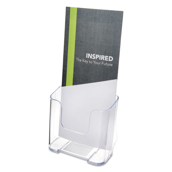 deflecto DocuHolder for Countertop/Wall-Mount, Leaflet Size, 4 3/8 x 7 3/4 x 3 1/4, Clear