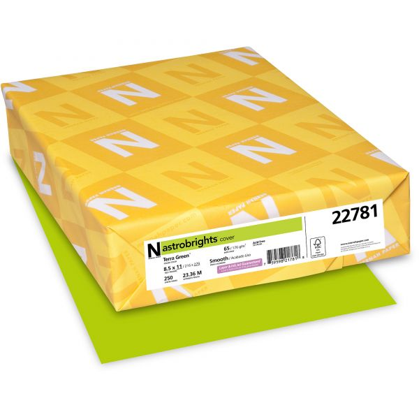 Neenah Paper Astrobrights Terra Green Colored Card Stock