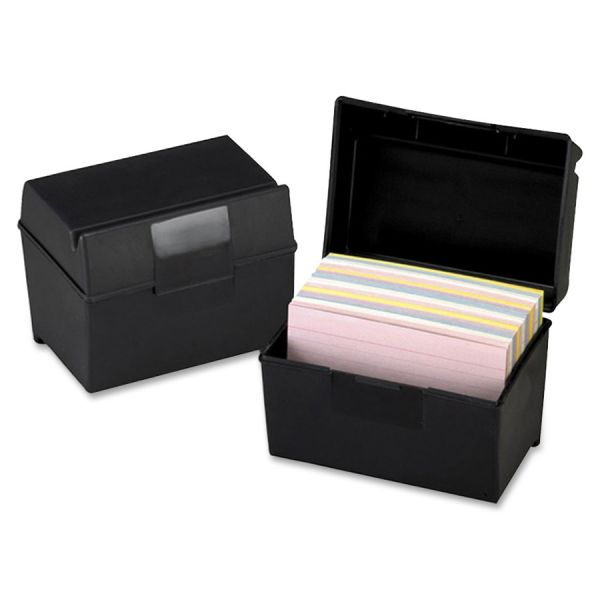 Oxford Plastic Index Card Boxes w/ Lids