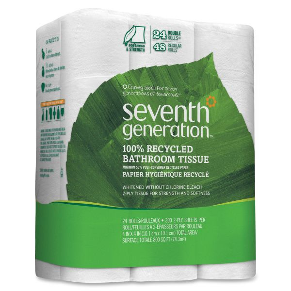 Seventh Generation 100% Recycled Double Roll 2 Ply Toilet Paper