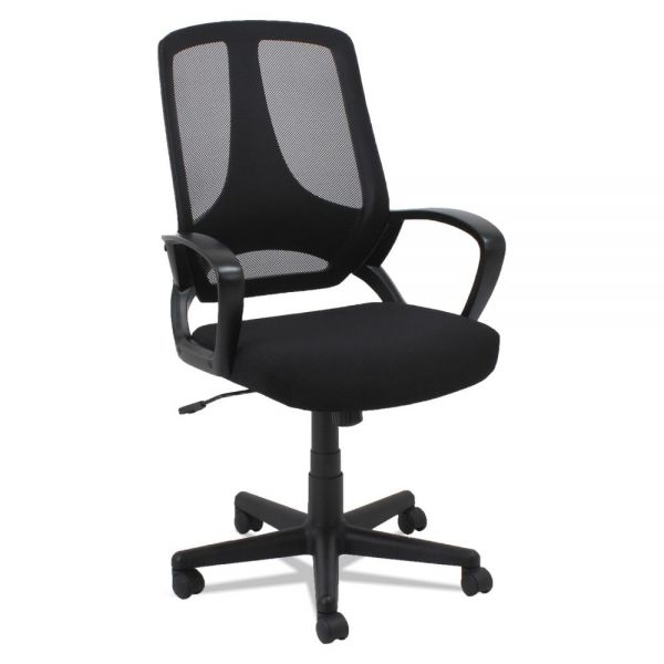 OIF Mesh Office Chair, Fixed Loop Arms, Black