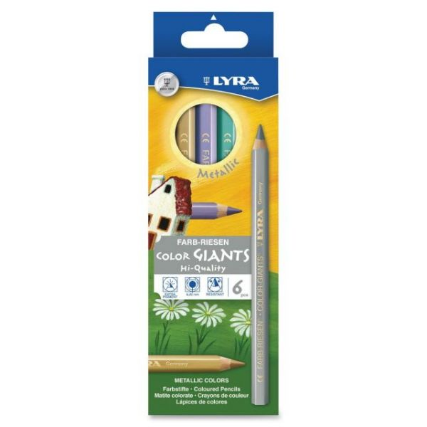 Dixon Color Giants Metallic Colored Pencils