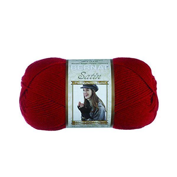 Bernat Satin Yarn - Crimson