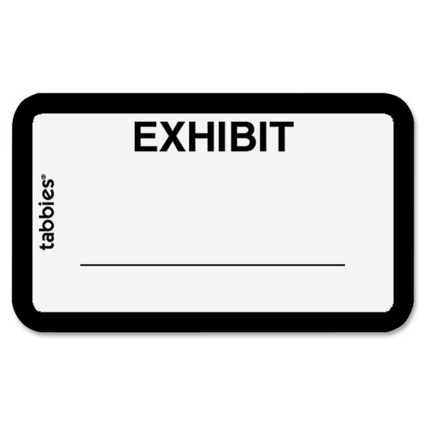 Tabbies Exhibit Legal File Labels