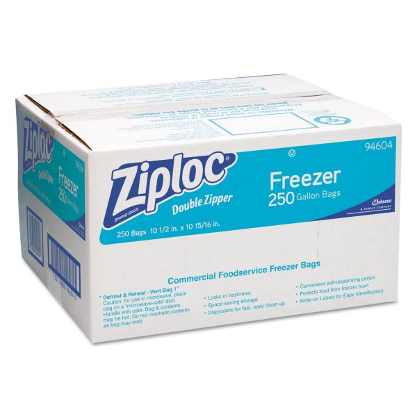 Ziploc Double Zipper Gallon Size Freezer Bags