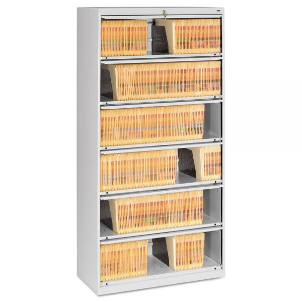 Tennsco 6 Shelf Lateral File Cabinet