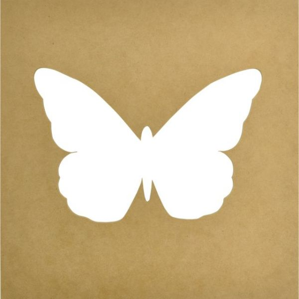 Beyond The Page MDF Butterfly Silhouette Wall Art Frame