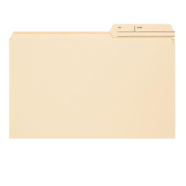 Smead 15388 Manila File Folders with Reinforced Tab