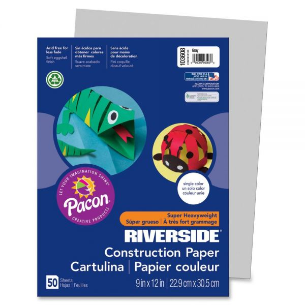 Pacon Groundwood Gray Construction Paper