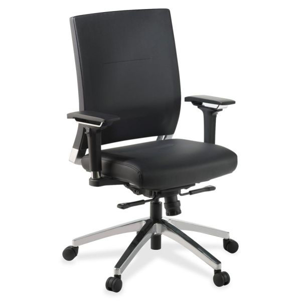Lorell Lower Back Swivel Executive Leather Office Chair