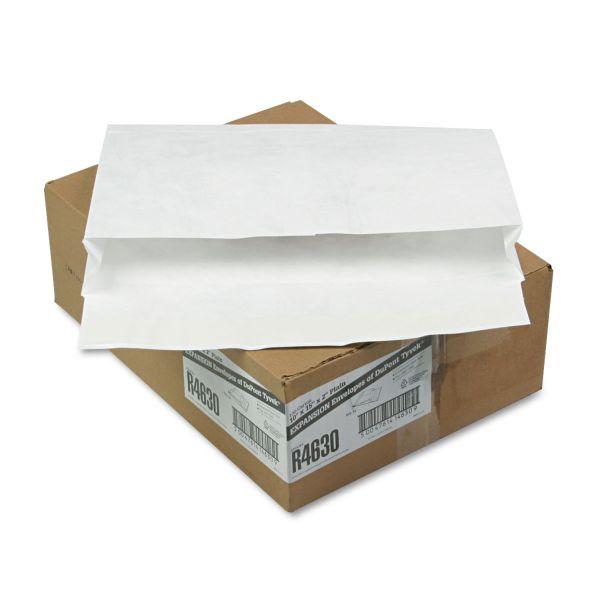 Survivor Tyvek Booklet Expansion Mailer, 10 x 15 x 2, White, 100/Carton