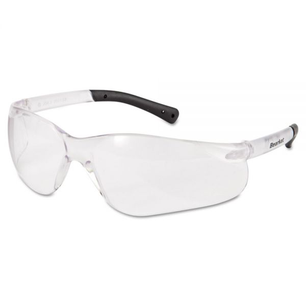 MCR Safety BearKat Safety Glasses, Frost Frame, Clear Lens