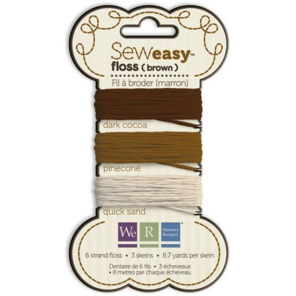 Sew Easy Solid 6-Strand Floss 8.7yd 3/Pkg