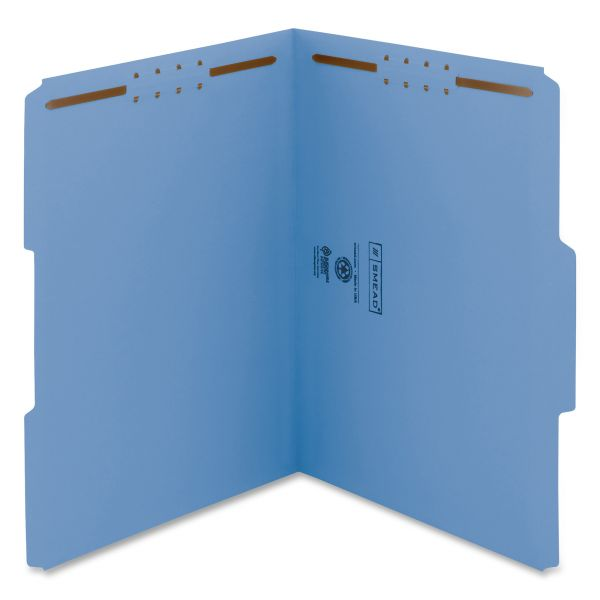 Smead WaterShed/CutLess File Folders With Fasteners