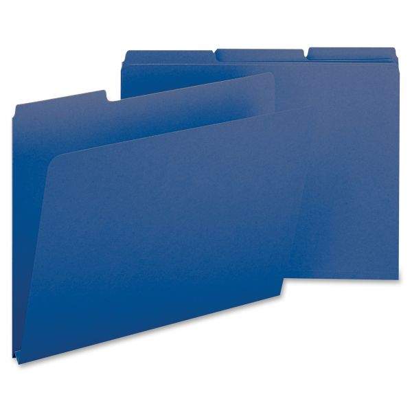 Smead Dark Blue Colored Pressboard File Folders