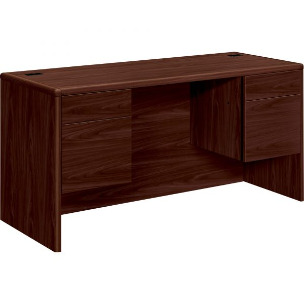 "HON 10700 Series Double Pedestal Credenza with Kneespace | 2 Box / 2 File Drawers | 60""W"