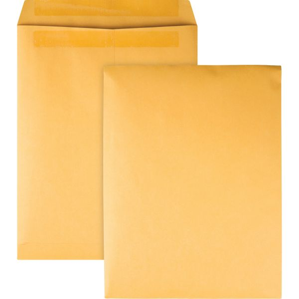 Quality Park Redi Seal Catalog Envelope, 9 1/2 x 12 1/2, Brown Kraft, 100/Box