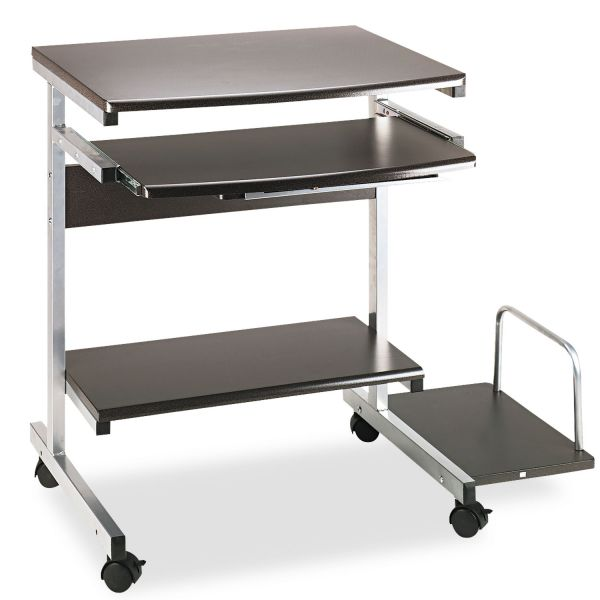 Tiffany Industries Portrait Mobile PC Workstation, 36-1/2w x 28-1/2d x 30h, Charcoal Laminate Top