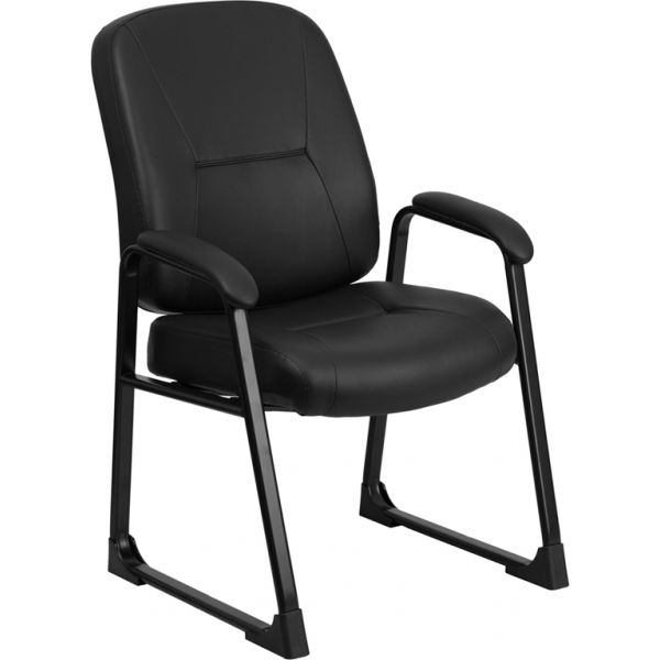 Flash Furniture Big & Tall Black Leather Executive Side Chair [WL-738AV-LEA-GG]