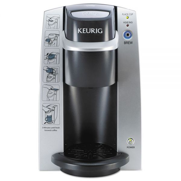 Keurig K130 Commercial Brewer, 7 x 10, Silver/Black