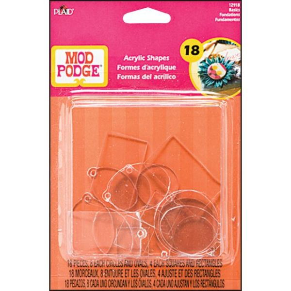 Mod Podge Acrylic Shapes 18/Pkg