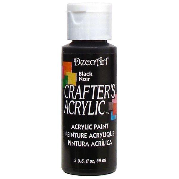 Deco Art Crafter's Acrylic Black Acrylic Paint