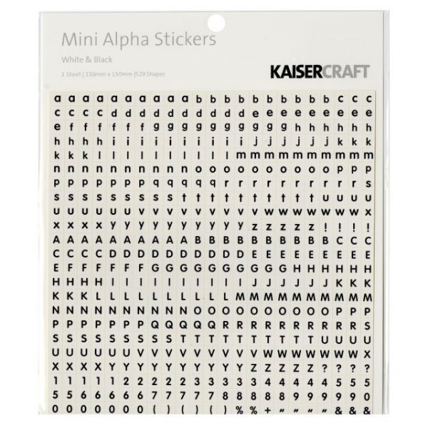 "Mini Alphabet Stickers 5.9""X5.9"" Sheet"