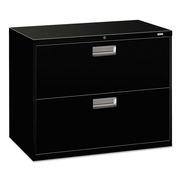 HON 600 Series Two-Drawer Lateral File, 36w x 19-1/4d, Black