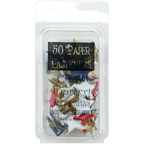 Painted Metal Paper Fasteners 50/Pkg
