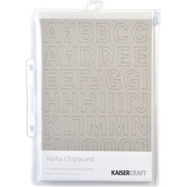 "Chipboard Alphabet #2 8.25""X5.75"" Sheets 3/Pkg"