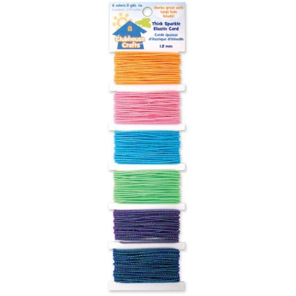 Clubhouse Crafts Thick Sparkle Elastic Cord