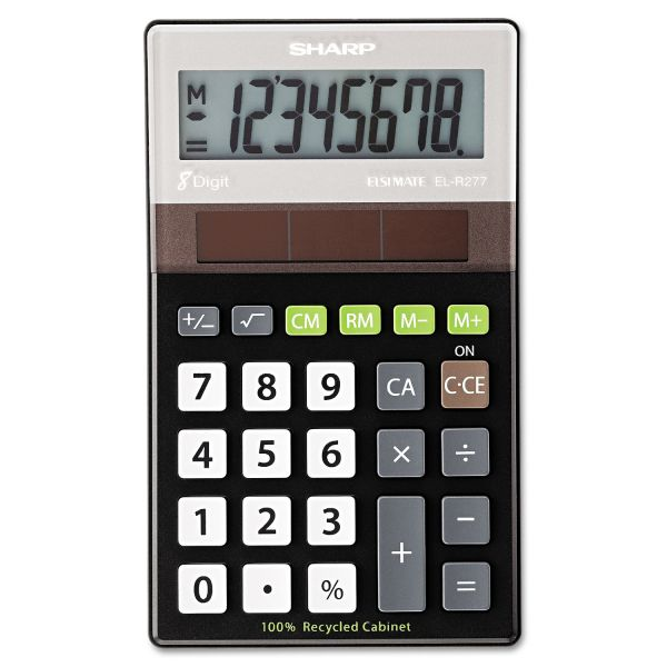 Sharp EL-R277BBK Recycled Series Handheld Calculator