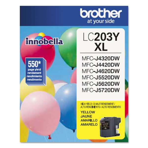 Brother Innobella High-Yield LC203Y XL Yellow Ink Cartridge