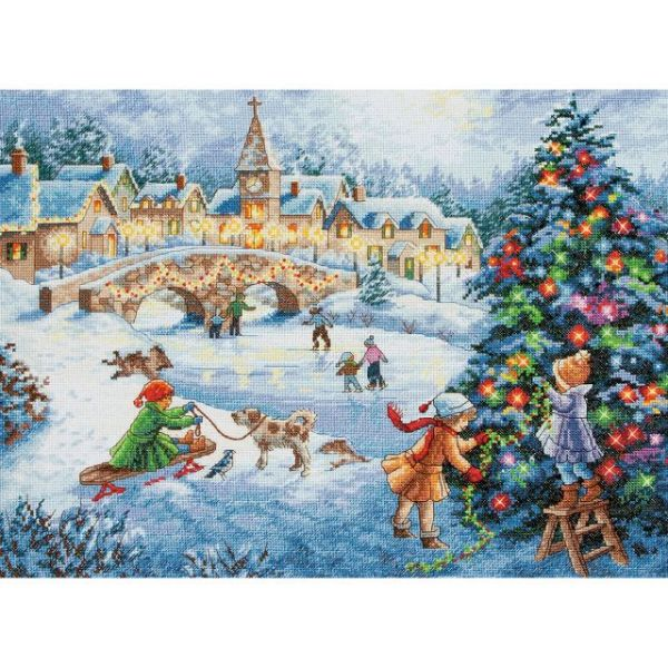 Dimensions Gold Collection Winter Celebration Counted Cross Stitch Kit