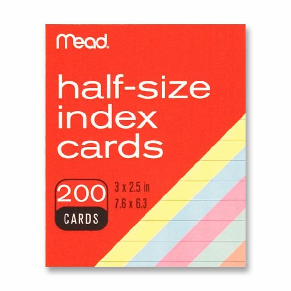 """Mead 3"""" x 2.5"""" Ruled Index Cards"""